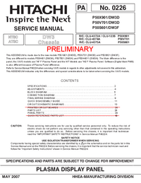 Service Manual Hitachi P50S601/DW3F