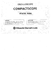 User Manual Hitachi V-1585