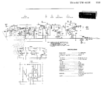 Cirquit Diagrama Hitachi TM-415 E