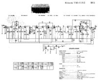 Cirquit diagramu Hitachi TM-715E