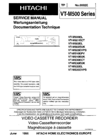 Service Manual Hitachi VT-M510EUK