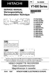 Service Manual Hitachi VT-F641 EVPS