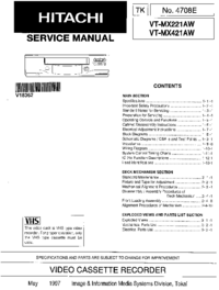 Service Manual Hitachi VT-MX421AW