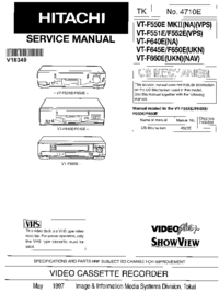 Service Manual Hitachi VT-F551 E/F552E(VPS)