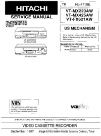 Service Manual Hitachi VT-MX223AW