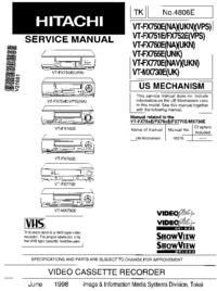 Service Manual Hitachi VT-FX765E(UNK)