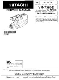 Manual de servicio Hitachi VM-7380E