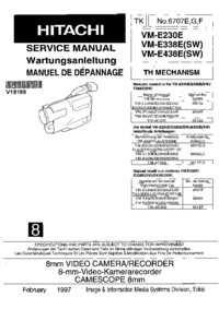 Service Manual Hitachi VM-E230E