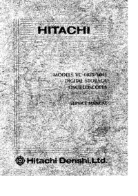Manual de serviço Hitachi VC_6045