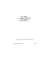 Manual del usuario Holaday HI-3637