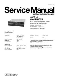 Manual de servicio Honda CX-LH9160B