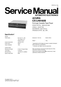 Manuale di servizio Honda CX-LH9160B