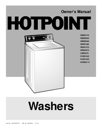 User Manual Hotpoint VBSR2060