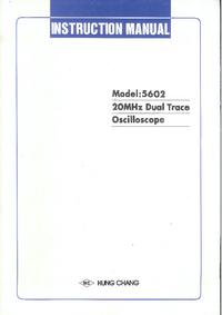 Servizio e manuale utente HungChang 5602
