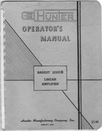 User Manual Hunter Bandit 2000B