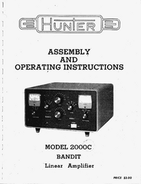 Service and User Manual Hunter Bandit 2000C