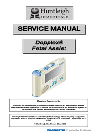 Manual de servicio Huntleigh Dopplex®