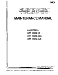 Service and User Manual Huntron HTR 1005B-1JS