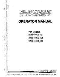 Bedienungsanleitung Huntron HTR 1005B-1ES