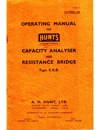 Manual del usuario Hunts C.R.B.