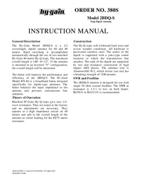 Hygain-6951-Manual-Page-1-Picture