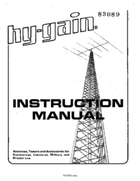 Manuale d'uso Hygain TH7DX