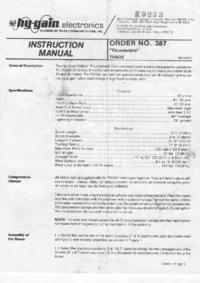 User Manual Hygain TH5DX Thunderbird