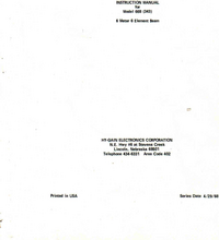 Hygain-6959-Manual-Page-1-Picture