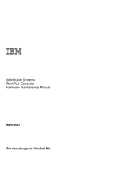 Servicehandboek IBM ThinkPad R40