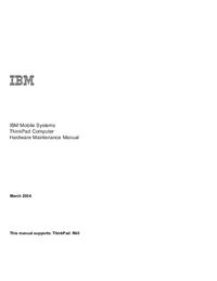Service Manual IBM ThinkPad R40