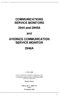 Manual de servicio IFR 2946A