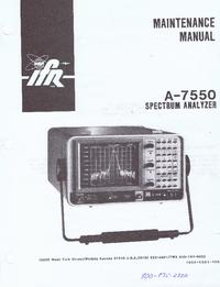 Service Manual IFR A-7550