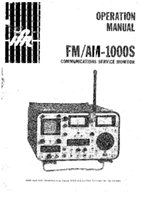 User Manual IFR FM/AM-1000S