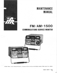 Service Manual IFR FM/AM-1500