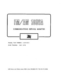 Manual de servicio IFR FM/AM-1000A