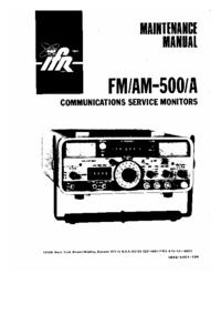 Manual de serviço IFR FM/AM-500A
