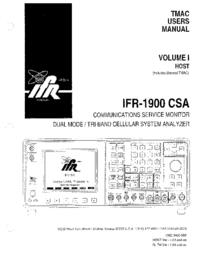 Service Manual IFR IFR-1900 CSA