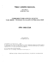 User Manual IFR IFR 1900 CSA