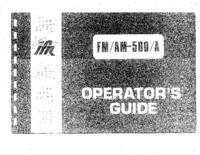 Instrukcja obsługi IFR FM/AM-500