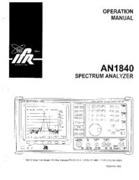 Manual do Usuário IFR AN 1840
