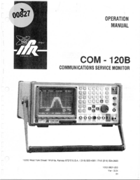 User Manual IFR COM-120B