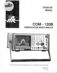 Manuale d'uso IFR COM-120B