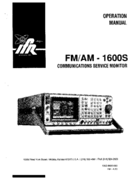 User Manual IFR FM/AM -1600S