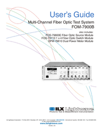 Manual del usuario ILX FOM-7900B