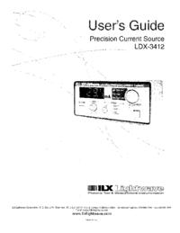 Bedienungsanleitung ILX LDX-3412