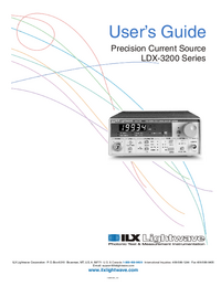 Serviceanleitung ILX LDX-3200 Series