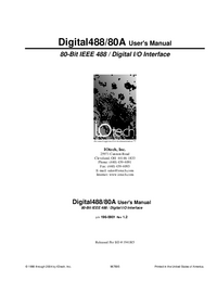 Manuale d'uso IOTech Digital488/80A