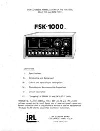 Service Manual IRL FSK-1000