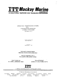 Service and User Manual ITT Mackay Type 3020A