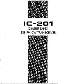 Manuel de l'utilisateur Icom IC-201